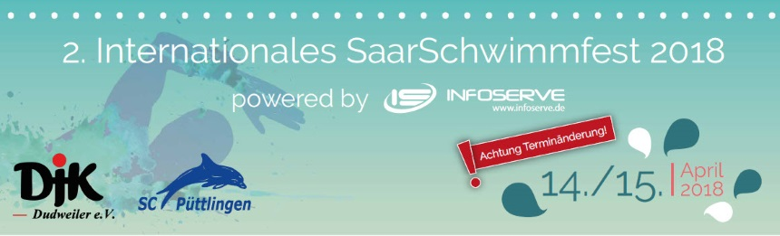 2. Internationales SaarSchwimmfest 14.-15. April 2018